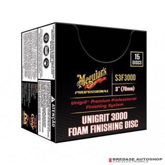 "Meguiar's 3"" Unigrit 3000 Finishing Discs #S3F3000"