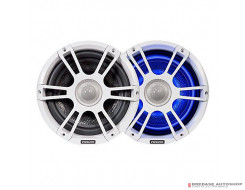 "Fusion 8.8"" Marine Signature Speaker Pair White Sports Grille + LED"